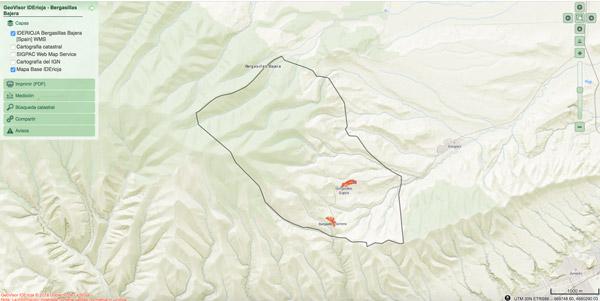 Mapa Cartográfico de Bergasillas Bajera